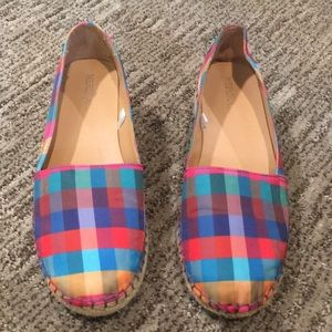 Target Merona Colorful Plaid Espadrille Sz 7.5 M